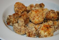 Baked and Breaded Mushrooms Recipe – 3 Points + - LaaLoosh