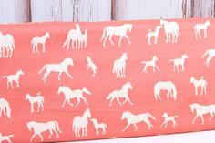 Birch Fabrics, Farm Friends, The Champions Coral, Organic Woven