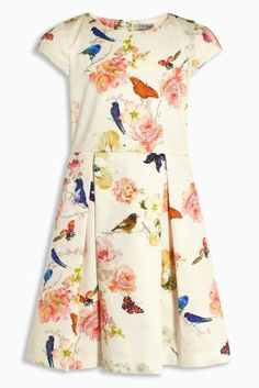 Buy Ecru Print Prom Dress online today at Next: United States of America Girls Easter Dresses, Prom Dresses, Summer Dresses, Latest Fashion For Women, My Girl, Floral Tops, Short Sleeve Dresses, Stuff To Buy, Clothes