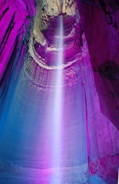 Ruby Falls within Lookout Mountain, near Chattanooga, Tennessee.