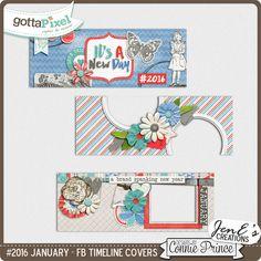 #2016 January - Facebook Timeline Covers :: Gotta Pixel Digital Scrapbook Store $2.99