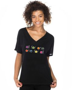 One For All Womens Flowy V-Neck