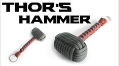 How To Make a Paracord Thor's Hammer Key Chain-Box Knot/Snake Knot-Paracord Mjolnir-CbyS Snake Knot Paracord, Paracord Braids, Paracord Keychain, 550 Paracord, Paracord Bracelets, Knot Bracelets, Survival Bracelets, Paracord Tutorial, Thors Hammer
