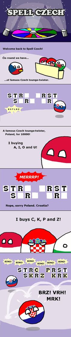 The Spell Czech Show (Czech, Poland, Croatia, Wales, Slovakia) by Javacode #polandball #countryball