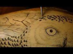 Scrimshaw Demonstration by Adams - Snowy Owl