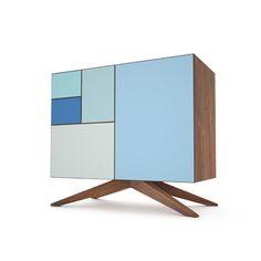 Incunabular Lowboy | Invisible City ( mid century style modern cabinate / amazing furniture / blue )