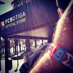 #myBRAYCE at the #fcbarcelona #fcbotiga store in #spain #BRAYCE #bracelet  #futbol #soccer www.brayce.com
