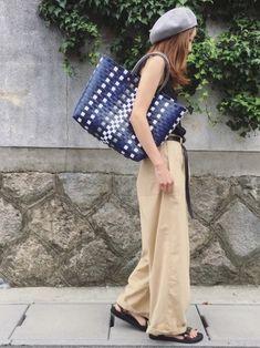 ACCOMMODEのかごバッグ「PPバンドカラートート・L」を使ったSato*のコーディネートです。WEARはモデル・俳優・ショップスタッフなどの着こなしをチェックできるファッションコーディネートサイトです。