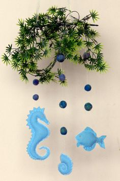 I like the felted bubbles for an under the sea mobile