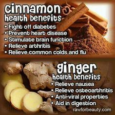 Cinnamon & ginger health benefits