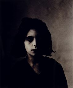 Bill Henson (1955 -) Triptych 2, 1983-84  The ghostly effect is what I am attracted to here.  Again not being able to read the sitters eyes leaves me intrigued and holds my attention.  The images sits with me not me with it.