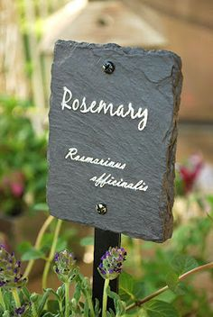 Slate + white paint pen = perfect herb marker