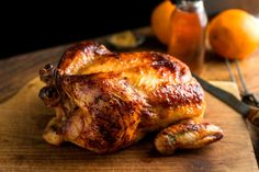 An easy way to give roast chicken some character is to baste it with flavorful liquid. Contrary to conventional wisdom, this does nothing to keep the bird moist. Even a very lean bird remains moist as long as it isn't overcooked. But the liquid adds flavor to the skin and creates a ready-made sauce that can be spooned over the chicken as you serve it. (Photo: Andrew Scrivani for The New York Times)
