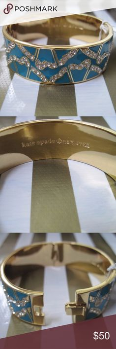Kate spade garden grove bracelet Brand new never worn hinge bangle. I don't have the tag but it has never been worn. Real with beautiful stones kate spade Jewelry Bracelets