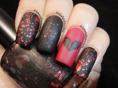 Polish & Pandas: Anti-Valentine's Day #nail #nails #nailart