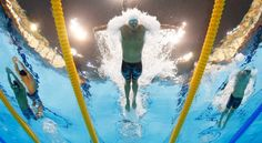 Men's Swimming  Team USA's Ryan Lochte competes in a men's 400-m individual medley at the Aquatics Centre in the Olympic Park during the London 2012 Summer Olympics on Saturday, July 28, 2012.