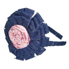 Sarah Headband  / Hand Made Hair Accessories for Girls by Little Prints Workshop / Fabric: Denim