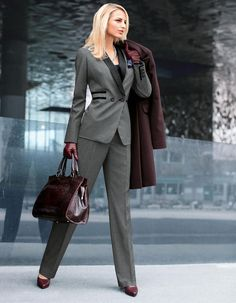 What to Wear to Work: Timeless Suits for Women   WardrobeLooks.com