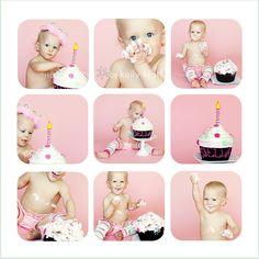 pink smash cake!