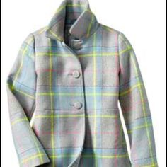 Gap girls riding coat Classic and plaid girls coat. Gap Jackets & Coats
