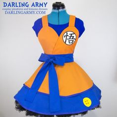 Goku Dragon Ball Z Cosplay Lolita Pinafore Dress Accessory | Darling Army - COSPLAY IS BAEEE!!! Tap the pin now to grab yourself some BAE Cosplay leggings and shirts! From super hero fitness leggings, super hero fitness shirts, and so much more that wil make you say YASSS!!!