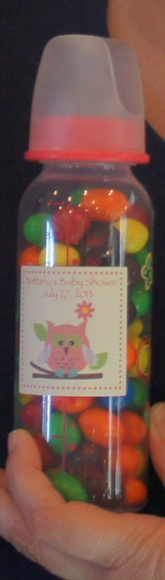 Baby bottles filled candy for prize bags