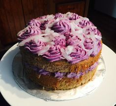 Purple Yam & Coconut sport cake! (Ube & Macapuno cake)