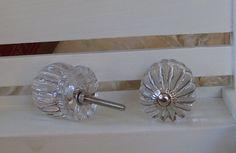 Large Clear Glass Knob-Vintage-Inspired Dresser Knob-Shabby Chic Drawer Pull- 1 knob. $8.25, via Etsy.