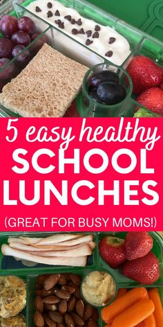 Gearing up for back to school time?  Try packing your kiddo one of these 5 healthy kids school lunch recipes!  They're quick and simple - perfect for busy moms. (sponsored)