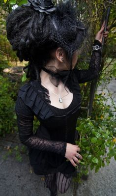 goth gothic veil black alternative
