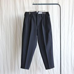 2way Pants - tuck tapered #navy