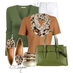 Leopard&Green, created by ccroquer on Polyvore