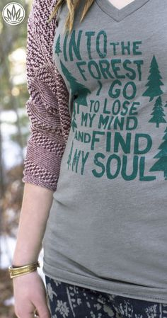 Forest T-Shirt | Treehugger Nature T-Shirts | Soul Flower
