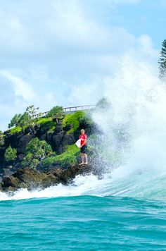 Kolohe Andino going in at the 2015 Quiksilver Pro Gold Coast