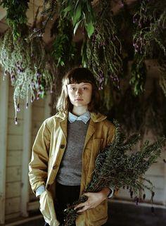 Mustard jacket | Gardening | tallulahfontaine: