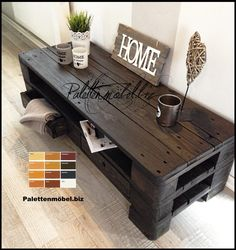 Pallet furniture tv sideboard / coffee table: by beaver design, country house solid wood multicolored, Reclaimed Wood Furniture, Diy Pallet Furniture, Diy Pallet Projects, Crate Furniture, Pallet Ideas, Tv Decor, Diy Home Decor, Pallet Frames, Country Style Living Room