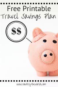 Printable Travel Savings Plan - Road Trip the World - Finance tips, saving money, budgeting planner Savings Planner, Budget Planner, Cheap Travel, Budget Travel, Travel Trip, Travel Packing, Road Trip Destinations, Vacation Trips, Travel With Kids