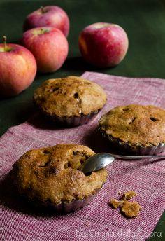 tortine di mele e noci (senza lievito)