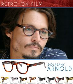 8278cc87f10 It is no surprise that Johnny Depp s eyewear of choice are the Dolabany  Arnold style frames