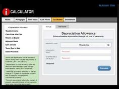 DEPRECIATION ALLOWANCE is explained and calculated using iCalculator. Learn more at http://www.proapod.com/real-estate-calculator.asp #realestate #realestatecalculations #realestatecalculator
