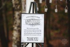 Unplugged wedding, ceremony decor, fall wedding, rustic wedding. Photo by ariusphoto.com