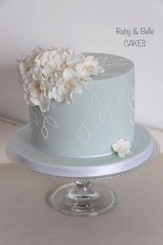 One Tier Wedding Cake Ideas