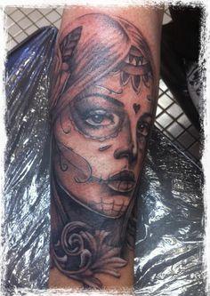 sugar skull tattoo by ~DrAnDrea on deviantART