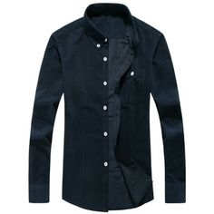 13.77$  Buy now - http://dilyk.justgood.pw/go.php?t=207499919 - Corduroy Chest Pocket Button Down Shirt 13.77$