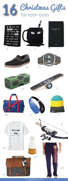 Coolest Christmas Gifts For Teen Boys. Tech gifts, teens fashion, games and more.