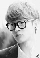 // Jongdae with Eyeglasses // by Sabrybrina