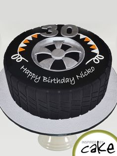 This was one for the car lover. A 30th Birthday, the cake was a Bailey's Mudcake coated in a white chocolate ganache.
