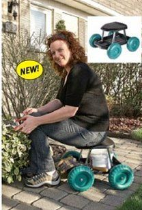 Superieur Garden Rolling Work Seat Product #: AP5457 Price: $49.98 Take The Back Pain  Out Of Gardening And Home Chores! Handy Mobile Garden Cart Allows You To Sit  ...