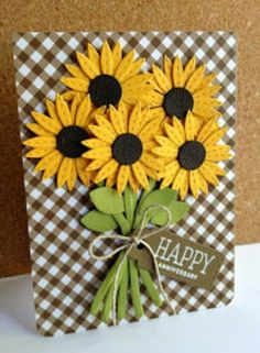 Amazing card by Lisa Adessa using brand New Simon Says Stamp from the STAMPtember release. - Love these sunflowers!Card by Lisa Addesa [Simon Says Stamp! Bundle of Stitched Shapes (Cold Hands Warm Heart), Scribble Flowers (Pure Sunshine), Stitched Da Handmade Birthday Cards, Happy Birthday Cards, Greeting Cards Handmade, Cricut Birthday Cards, Flower Birthday Cards, Handmade Fall Cards, Handmade Anniversary Cards, Scrapbook Birthday Cards, Butterfly Cards Handmade