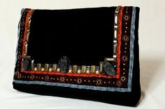 de7c6b137 Turkish bag, Ottoman, black, burgundy, velvet, elegant, ethnic bag, clutch  bag , beading, metallic accessory, hand made on Etsy, $159.00